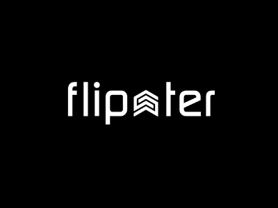 Flipster Logo Design design badge typography branding logo minimal business realestate minimalist