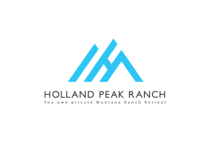 Holland Peak Ranch Logo illustration badge badge design design branding typography minimalist logo minimal business