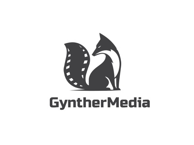 Gynther Media Logo Design modern illustration logo branding media typography minimalist minimal business