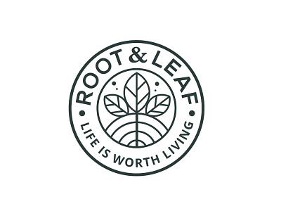 Root & Leaf retro design logo badge design badge branding typography minimalist minimal business