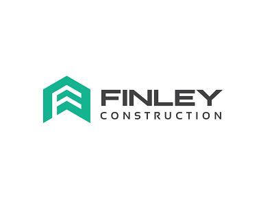 Finley Construction Logo Design vector tiny design realestate branding logo typography minimalist minimal business