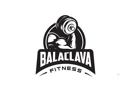 BALACLAVA FITNESS Logo Design illustration badge design typography branding design logo minimal minimalist business gym fitness
