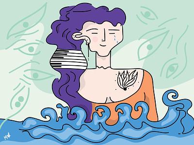 Calm is what we hear underwater music illustrator vector thesea underwater calm art digital digital art illustration