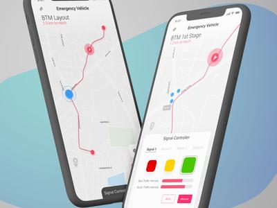 UI design traffic Signal Controller Concept