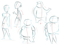 Character design: Line of action