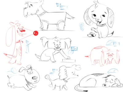 Animals using simple shapes