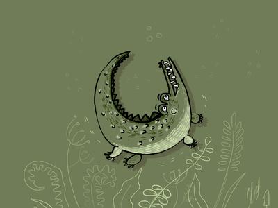 Сrocodile сrocodile сrocodile фотошоп тварин illustration