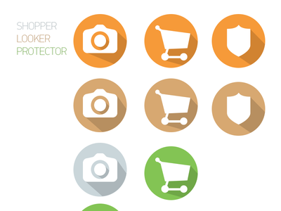 Badges shopper looker protector marketbook