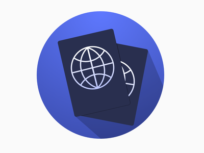 Visa calculation app icon passport icon