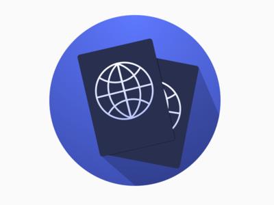 Visa calculation app icon passport icon