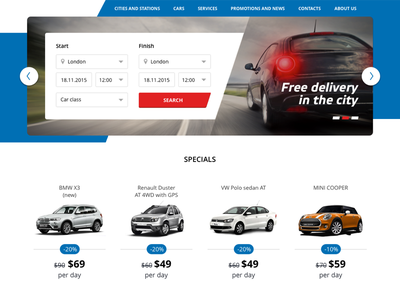 Car Rent form on site rent car form web