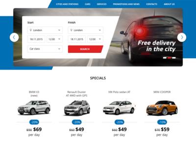 Car Rent form on site rent car form web