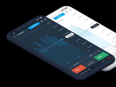 Mobile trading platform sketch iphone chart crypto trading