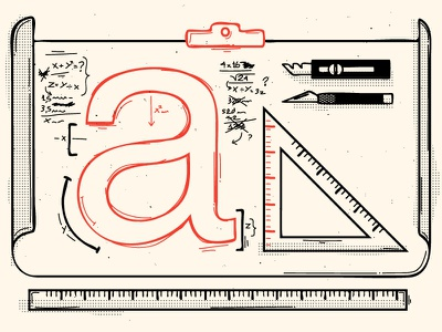 typography typography illustration rule a letter
