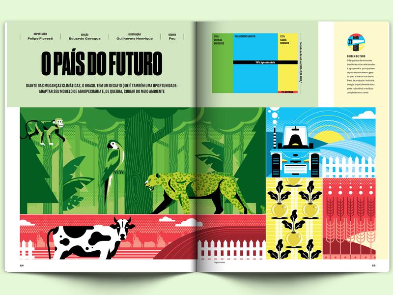 Galileu Magazine forest farm animal