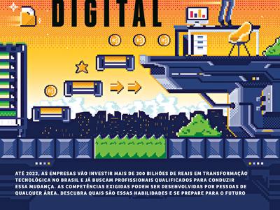 Você S/A Magazine (cover) game 16bit 8bit pixelart pixel