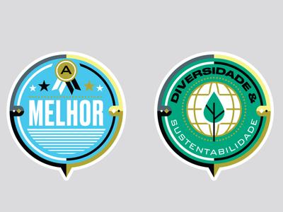 Você S/A Magazine - MEPT badges badge logo badge stamp badges