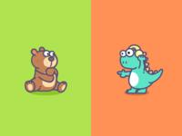 Bear And Dinosaurs