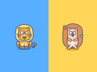 The Lion A Hedgehog