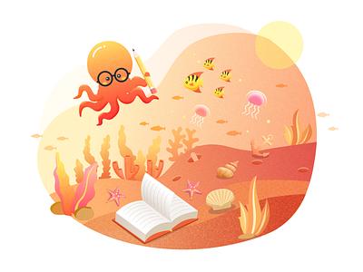 Octopus 应用 图标 设计 插图