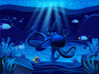 The undersea world - the octopus