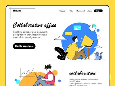 Collaborative office 设计 图标 插图 应用
