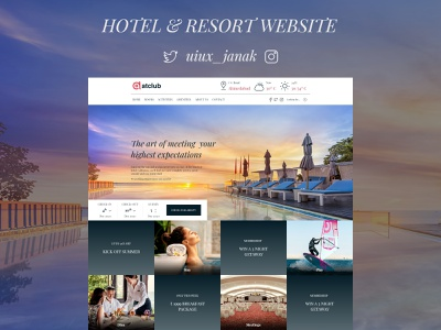 Hotel & Resort Website Design trending typography flat figma minimal web ux hotel booking branding dribbble clean dailyui ui design website hotel