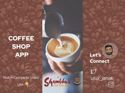 Coffee Shop App Design likes vector typogaphy minimal gif flat dailyui clean brand branding animation dribbble app ux ui app designers app ui food food app coffee shop