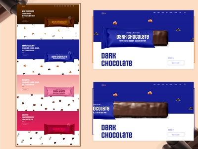 For a Perfect Dessert After a Tasty Meal | Chocolate Web Design dark chocolate web desing dark chocolate unique design web template design webdesign chocolate webpage design chocolate bar chocolate