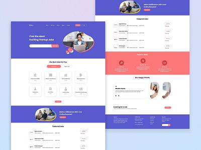 To Attain Your Anticipated Job | Job Finder Web Design web design website design website concept job portal web template job finder web job website job finder job