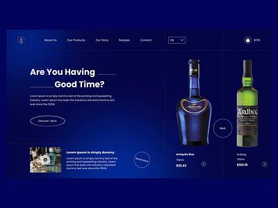 Add good Wine 🥰 in good Time 😊 wine ui web design web template design website design web template ui design wine e-commerce ui classic ui
