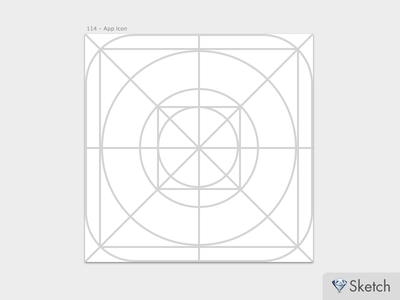 Ios7 icon guides for Sketch.app ios7 icon sketch.app guides