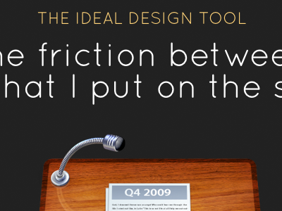 The ideal design tool keynote quicksand
