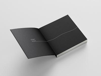 Start Here_ minimal typogaphy layout bookdesign book