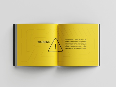Be warned! typesetting typography bookdesign booklet book layout
