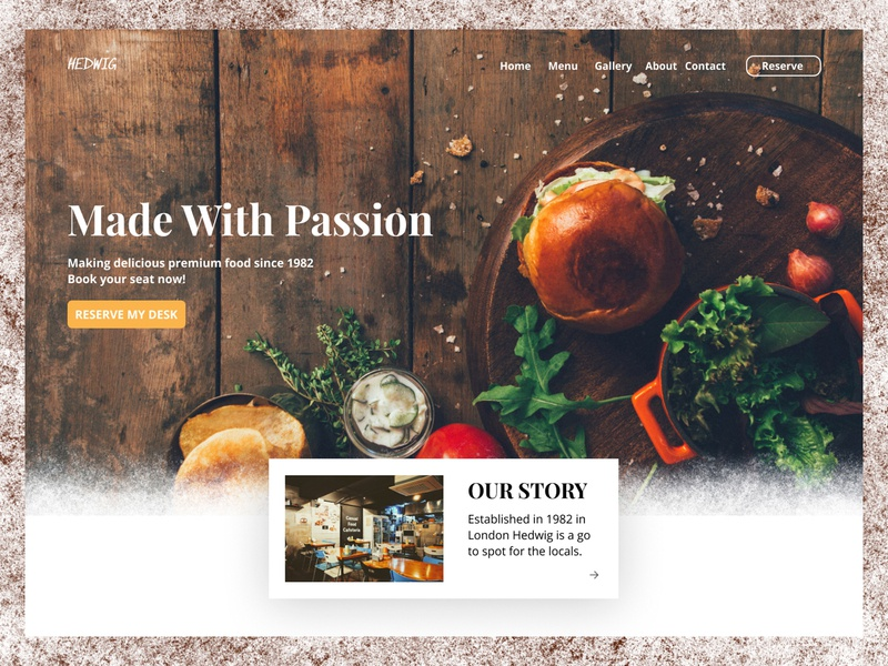 Restaurant Landing Page restaurant website design webdesign website landing page uxdesign uidesign uiux ux ui