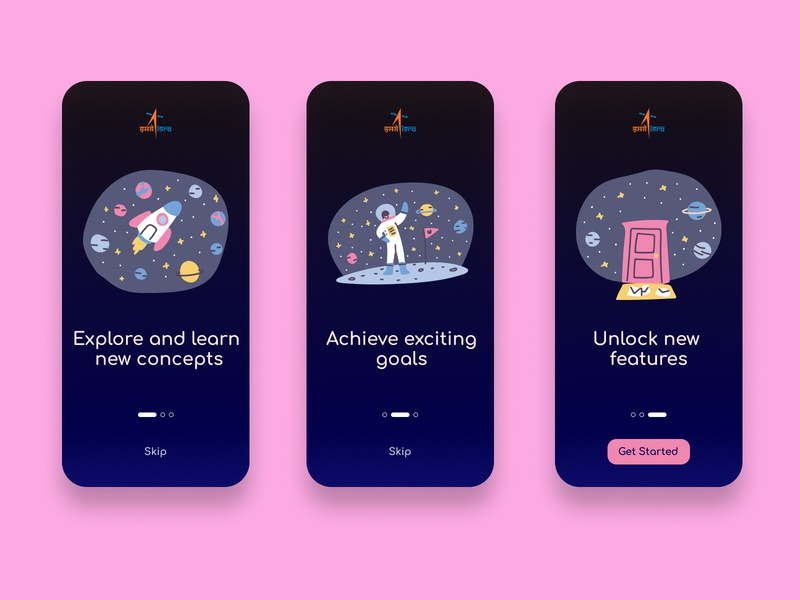 Design Challenge- Day 01 | ISRO Educational App 10ddc education app isro space app design app uxdesign uiux ux uidesign ui