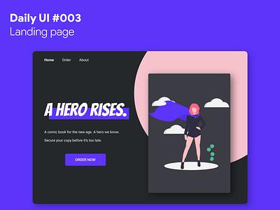 Daily UI #003 - Landing Page landing page website ui dailyui