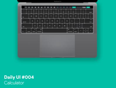 Daily UI #004 - Calculator calculator touch bar macbook ui dailyui
