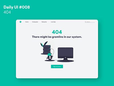 Daily UI #008 - 404 website web design 404 web dailyui