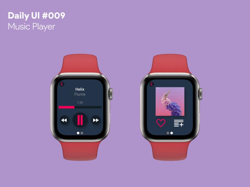 Daily UI #009 - Music Player music player apple watch app ui dailyui