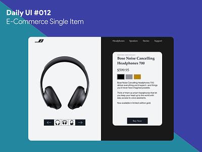Daily UI #012 - E-Commerce Single Item ecommerce shop headphones bose web dailyui