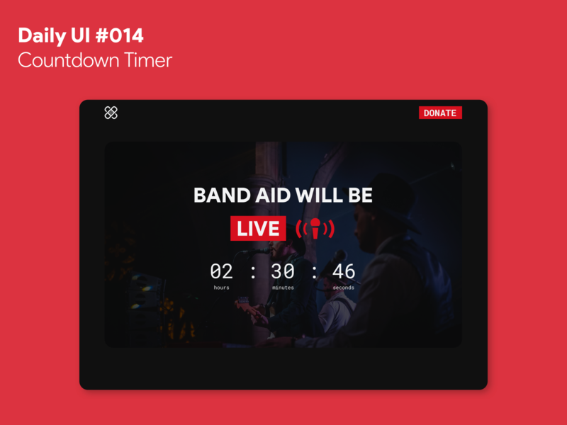Daily UI #014 - Countdown Timer band live countdown timer website web dailyui