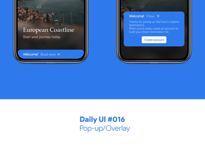 Daily UI #016 - Pop-up/Overlay overlay pop up app dailyui