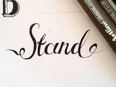Stand stand handlettering lettering typography