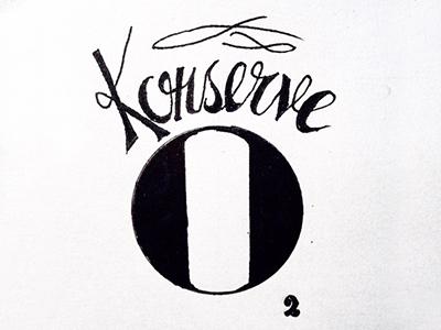 Konserve, a can full of pure oxygen konserve oxygen handlettering lettering typography