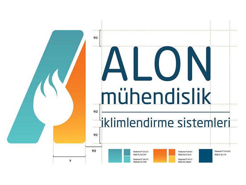 Alon Mühendislik - Logo identity branding logo engineering muhendislik alon