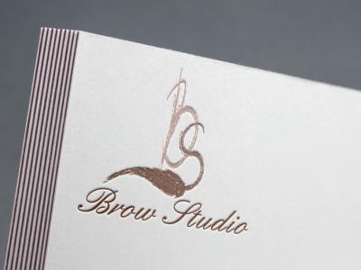 Лого для студии бровей лого logotype brand web design