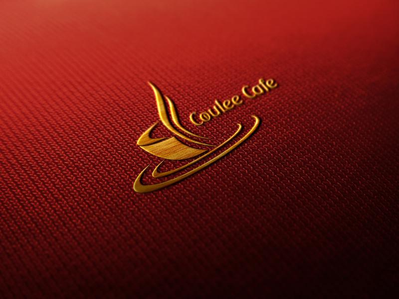 Coulee Cafe typography animation logo vector illustrator illustration design minimalist logo logo design business logo