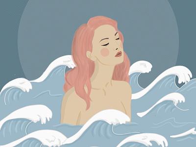 waves drawing digitalartwork digitalartist digitalart illustration
